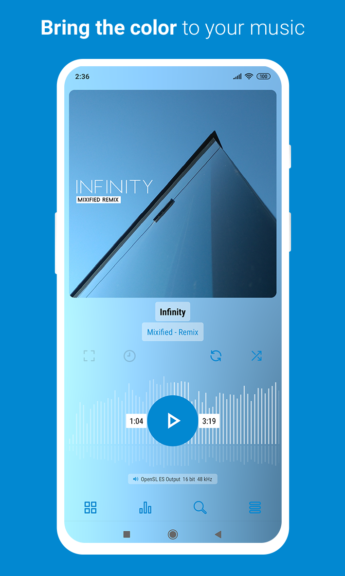 Luminous - Material Poweramp v3 Skin Screenshot 6