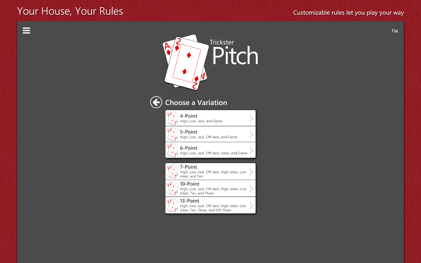 Play Pitch Card Game Online