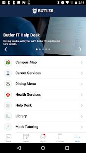 Butler University App - náhled