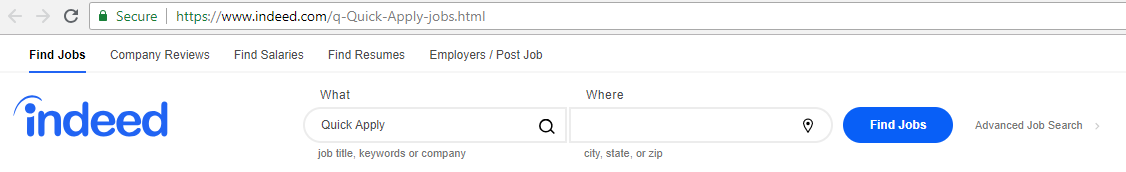 Candidates filling job application form