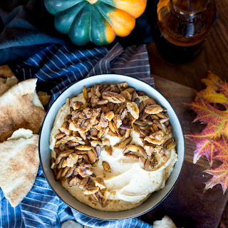 Seasonal Hummus Remix with Spiced Pepitas + Quick-Candied Pecans