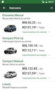 National Car Rental: miniatura da captura de tela