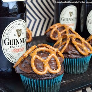 Beer & Pretzel Cupcakes