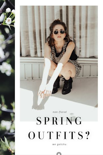Non-Floral Spring Outfits - Pinterest Pin Template