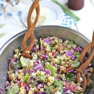 Chopped Pasta Salad with Honey Mustard Dressing
