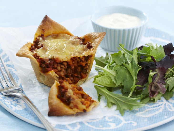 Cheesy Lentil Pies