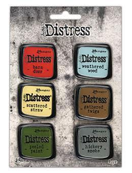 Tim Holtz Distress Enamel Collector Pin Set 6/Pkg - Set 7