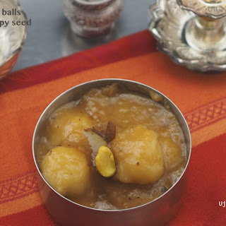 Steamed Rice Balls In Pumpkin, Coconut Gravy.
