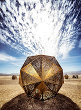 """Photo: Triambic Icosahedron - )'( - 2015 """"There is a theory which states that if ever anyone discovers exactly what the Universe is for and why it is here, it will instantly disappear and be replaced by something even more bizarre and inexplicable. There is another theory which states that this has already happened."""" – Douglas Adams"""