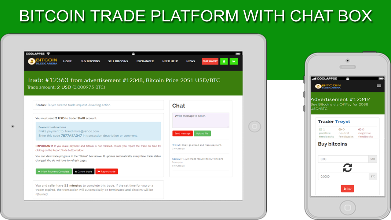 Buy And Sell Bitcoins Screenshot