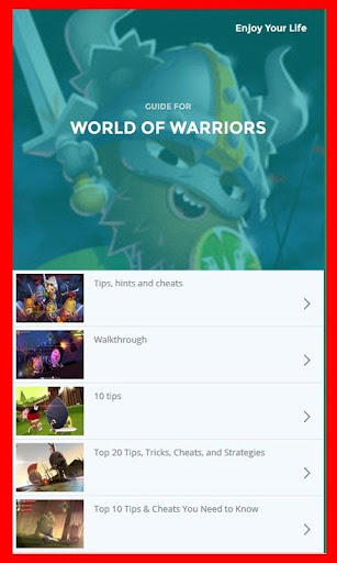 Guide for World of Warriors