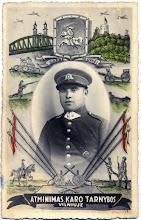 Photo: Viršilas Pranas, dalyvavo istoriniame žygyje į Lietuvos sostinę Vilnių (kai buvo grąžintas Vilnius,  1939). Nuotrauka iš Juozo Šakinio asmeninio archyvo.