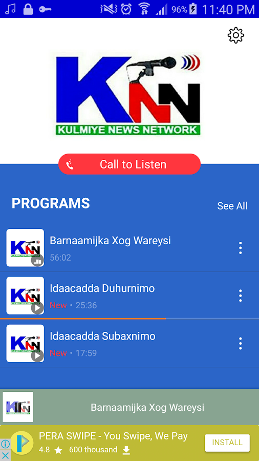 Somali Radio App- screenshot