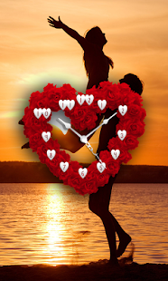 Love Clock Heart Wallpaper - náhled