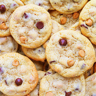 Classic Chocolate Chip And Peanut Butter Chip Cookies.
