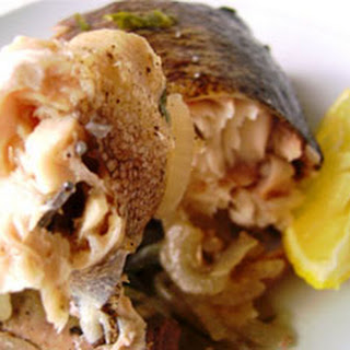 Baked Whole Trout with Onions in Foil