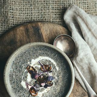 Sunday Night Portobello Mushroom Soup with Gruyere & Onion Jam Toasties.