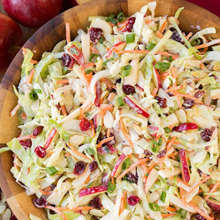 Apple Cranberry and Almond Coleslaw Recipe