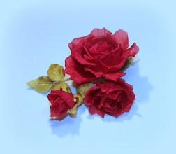 Photo: Брошка на платье - букетик роз