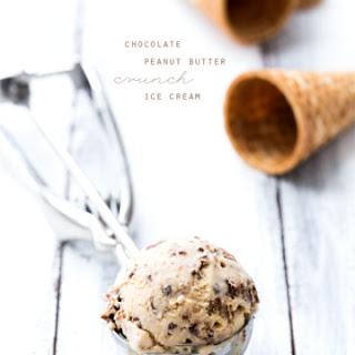 Chocolate Peanut Butter Crunch Ice Cream.