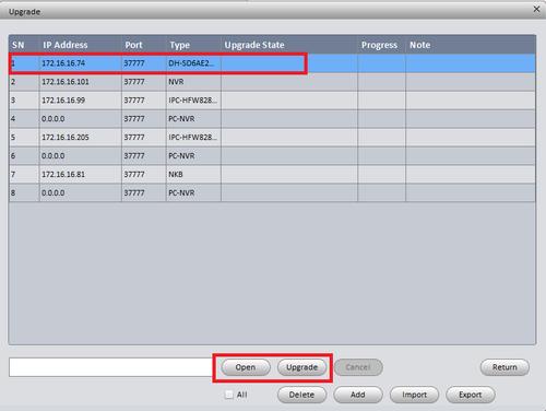 Hướng dẫn cập nhật Firmware Dahua qua ConfigTool 2020 3