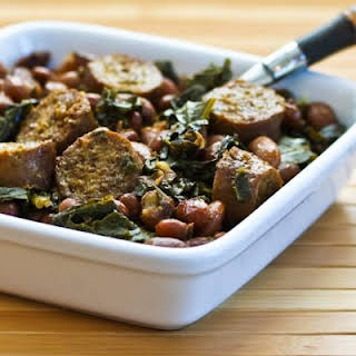 Crockpot Recipe for Sausage, Beans, and Greens.