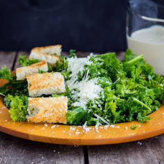 Kale Caesar Salad Greek Yogurt Dressing.
