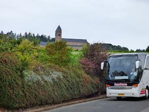 Photo: Bussen på vej ned fra Abtei St. Hildegard