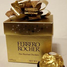 Favorite treat by Ann Marie - Food & Drink Candy & Dessert ( chocolate, candy, ferrero rocher, gold, treat,  )