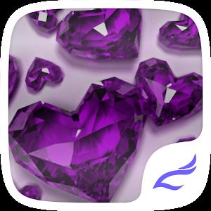 Purple Crystal Heart Theme