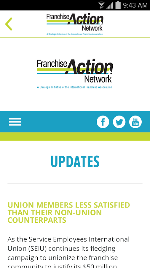 Franchise Action Network- screenshot