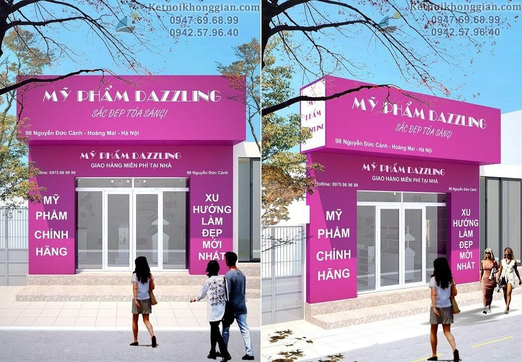 thiết kế shop mỹ phẩm chuyên nghiệp