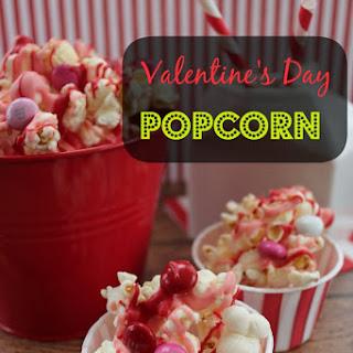 Easy Valentine's Day Popcorn.