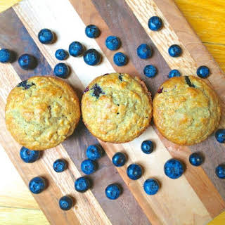 Blueberry Banana Flax Muffins with Coconut Oil.