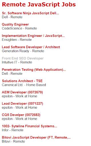 Remote JavaScript Jobs