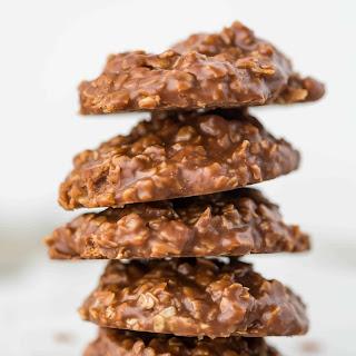 Chocolate Peanut Butter Oatmeal No-Bake Cookies.