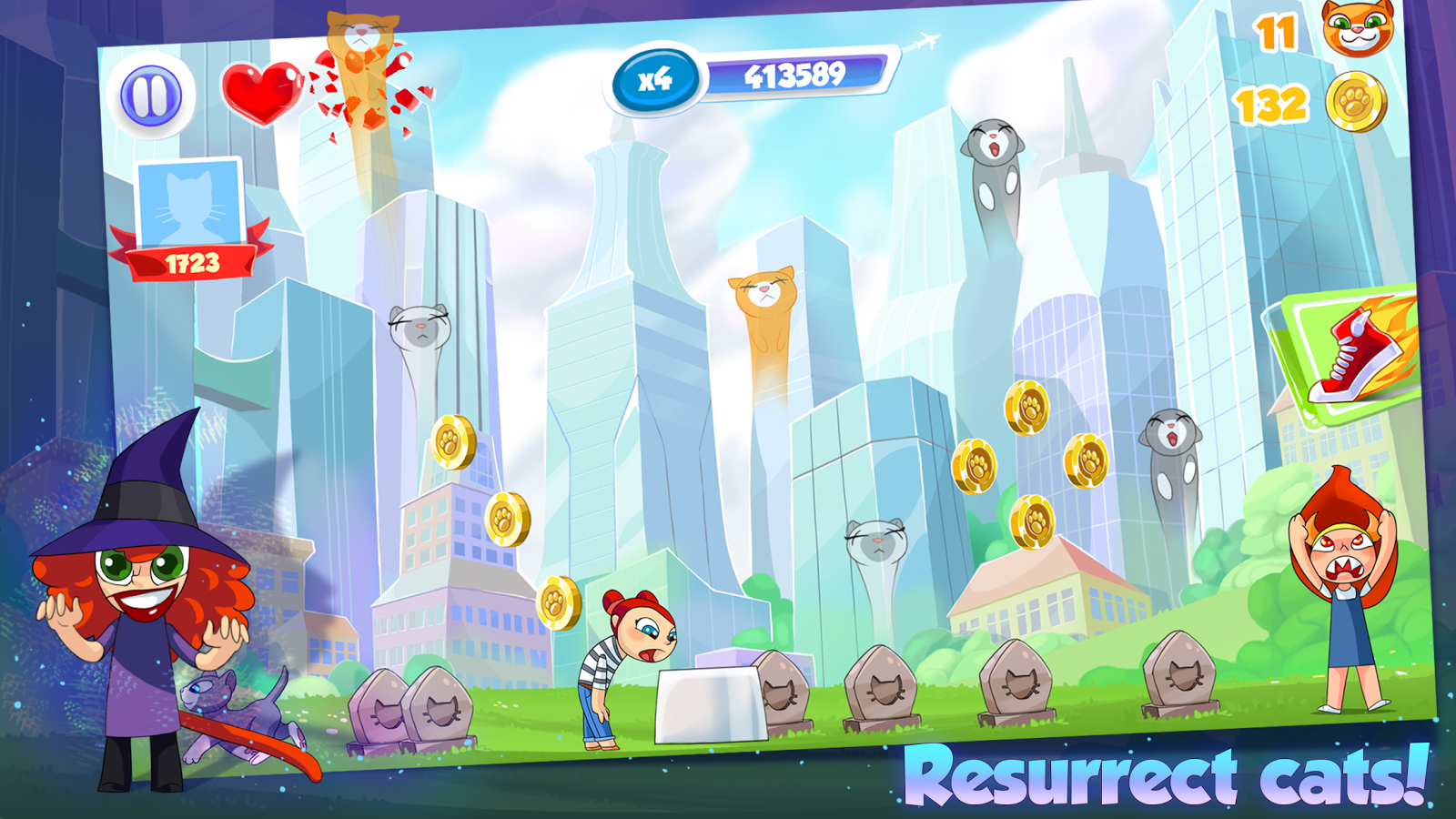 Catch the Cat: Run and Rescue- screenshot