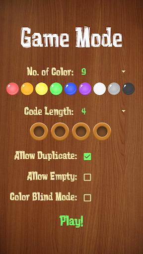 Mastermind - Code breaker (Color Blind friendly) 1.0 screenshots 2