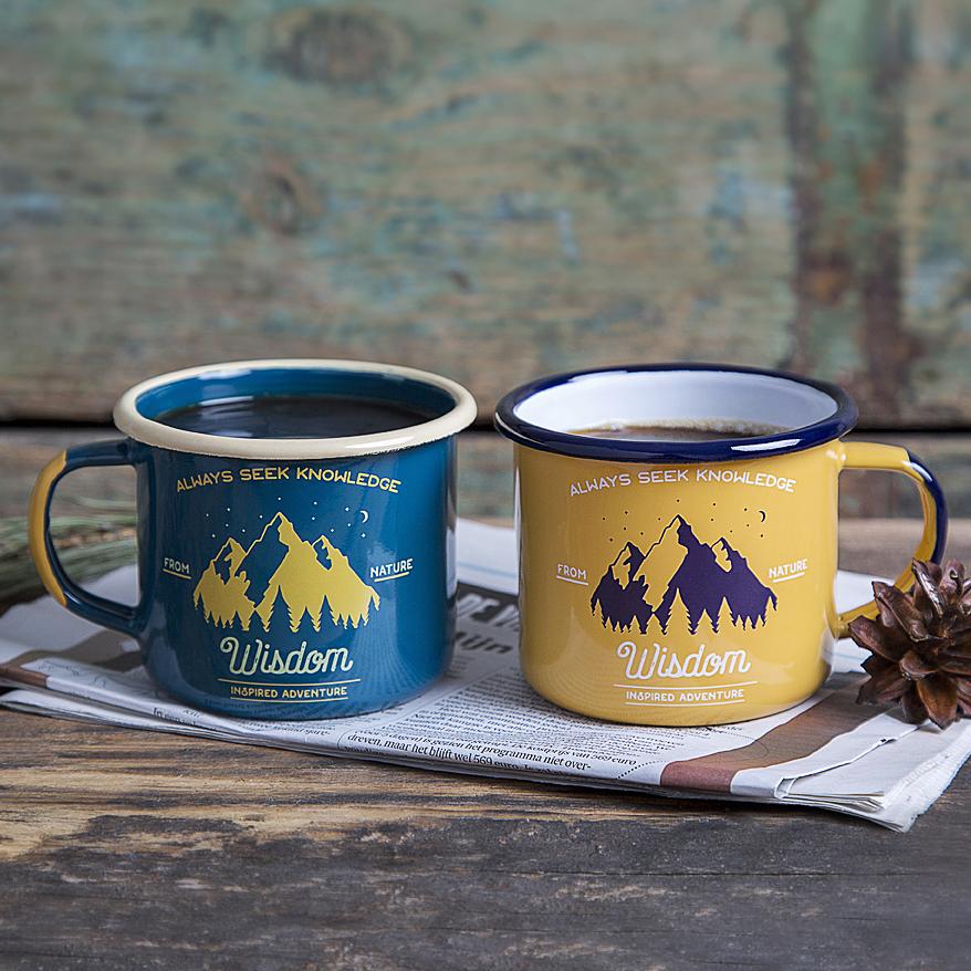 Hiker Gift Idea Enamel Mug
