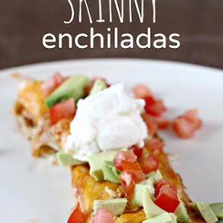 Slow Cooker Skinny Chicken Enchiladas