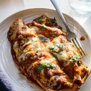 Veggie Black Bean Enchiladas.