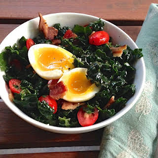 Bacon, Egg, and Kale Breakfast Salad.