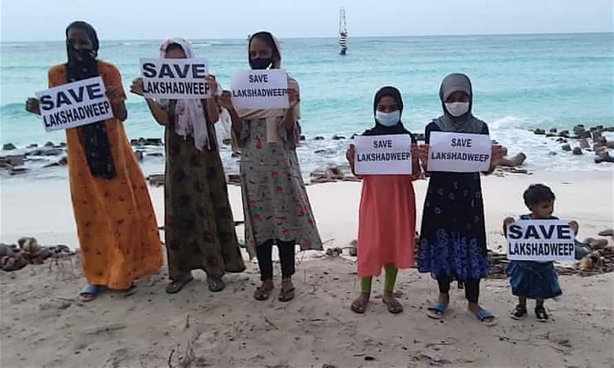 Trouble in paradise: Indian islands face 'brazen' new laws and Covid crisis  | Global development | The Guardian
