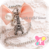 Cute Theme-Girly Eiffel Tower-