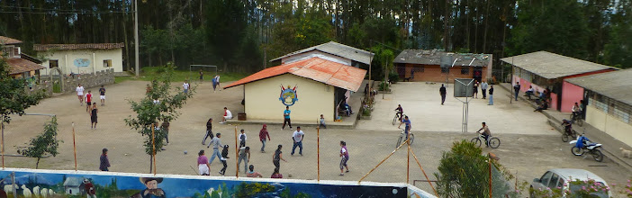 Photo: A schoolyard just below Rose Cottage, busy on a Sunday