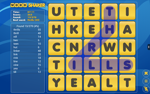 Word Shaker Free 3.0 screenshots 12