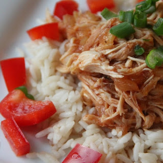 Hawaiian Chicken over Rice in the Slow Cooker