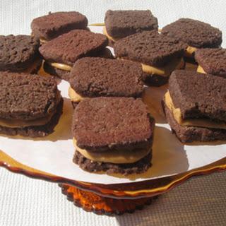 Chocolate Peanut Butter Cream Sandwich Cookies, gluten-free