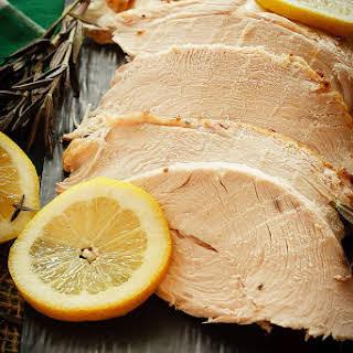 Lemon Rosemary Brined Turkey.
