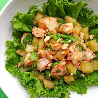 Hoisin Shrimp Salad With Walnuts
